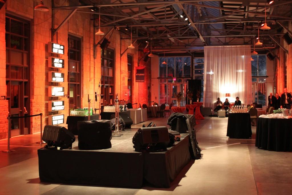 Centre stage set-up