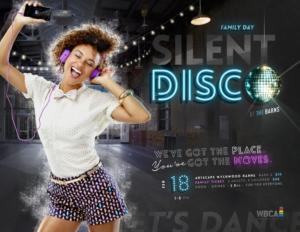 wbca silent disco poster